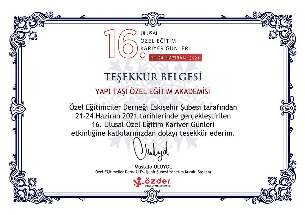 16. Ulusal Özel Eğitim Kariyer Günleri